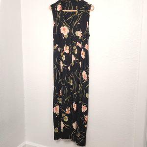 Erika Women's Black Floral Maxi Dress size L